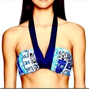 Seafolly Silk Market Bahama Bandeau Bikini Top 10